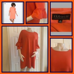 Eloquii Coral Dress 16